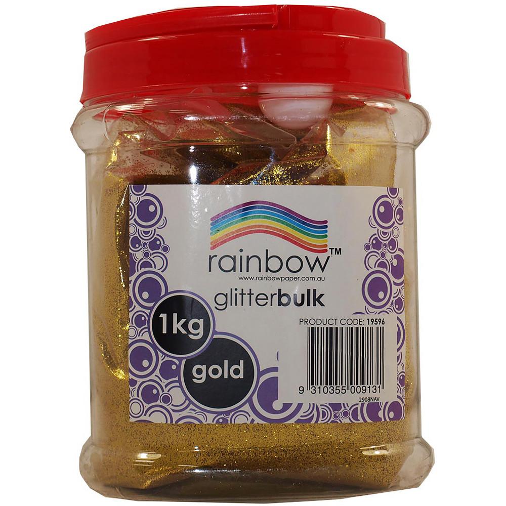 RAINBOW GLITTER BULK 1 KG JAR Gold