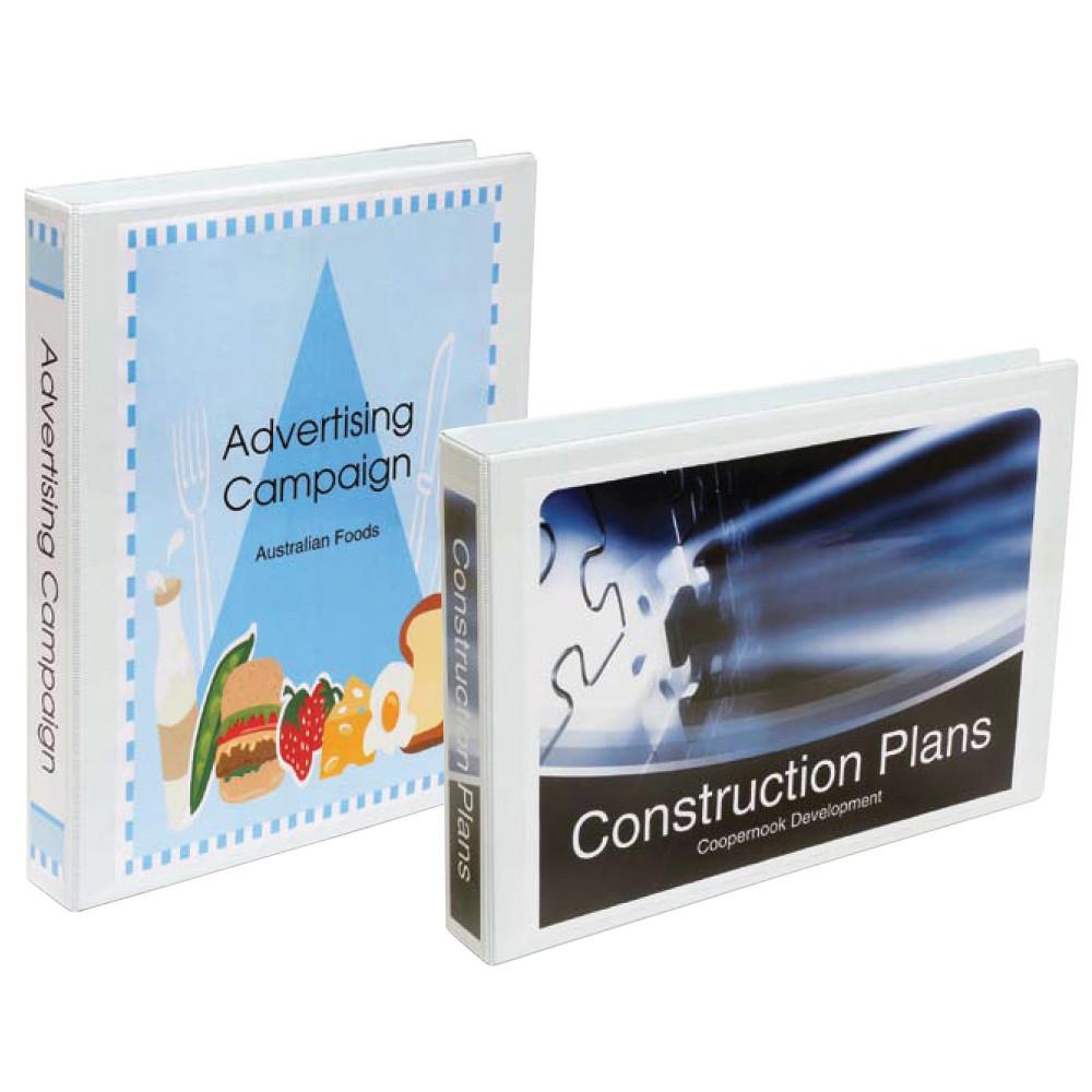 MARBIG INSERT BINDER A3 3D Ring 50mm Landscape Wht