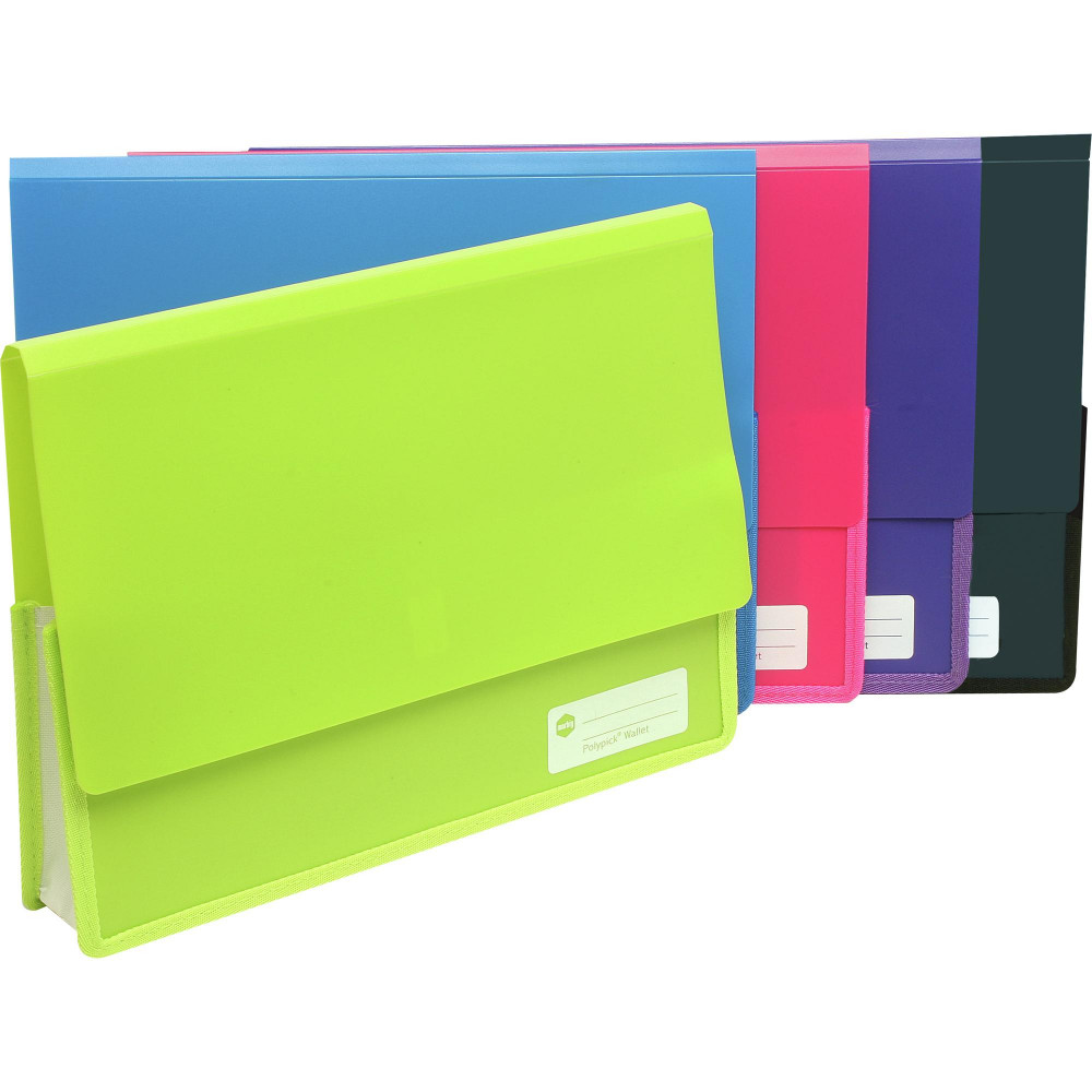 MARBIG POLYPICK DOCUMENT WLT A4 Heavy Duty Wallet Lime