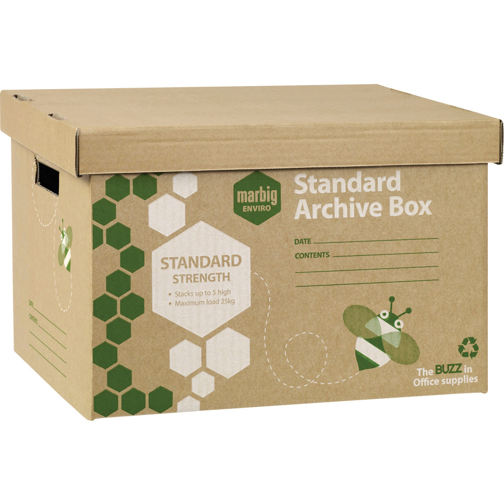 MARBIG ENVIRO ARCHIVE BOX 100% Recycled Brown