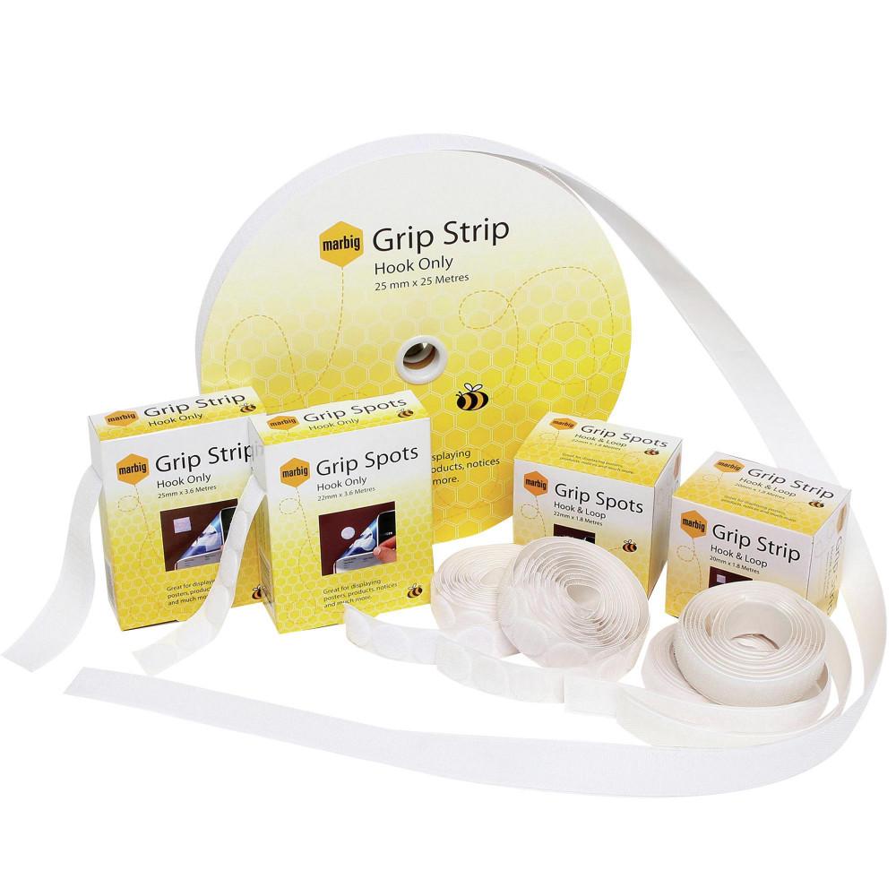 MARBIG GRIP SPOT/STRIP FASTENR Loop Only 25mmx25m