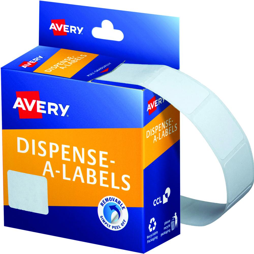 AVERY DMR1924W DISPENSER LABEL Rectangle 19x24mm White