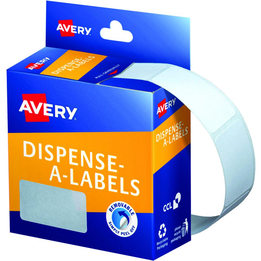 AVERY DMR2438W DISPENSER LABEL Rectangle 24x38mm White