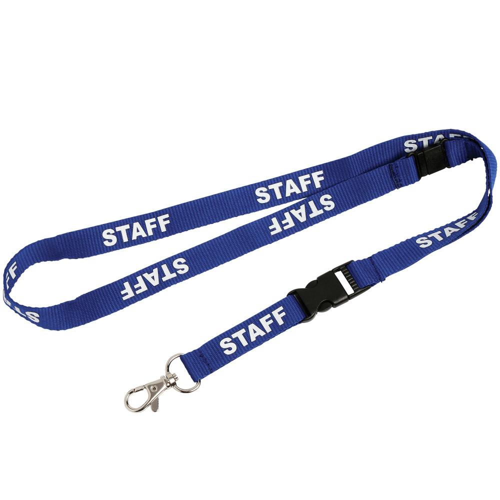 REXEL PRE-PRINTED LANYARD Staff Blue Pk5