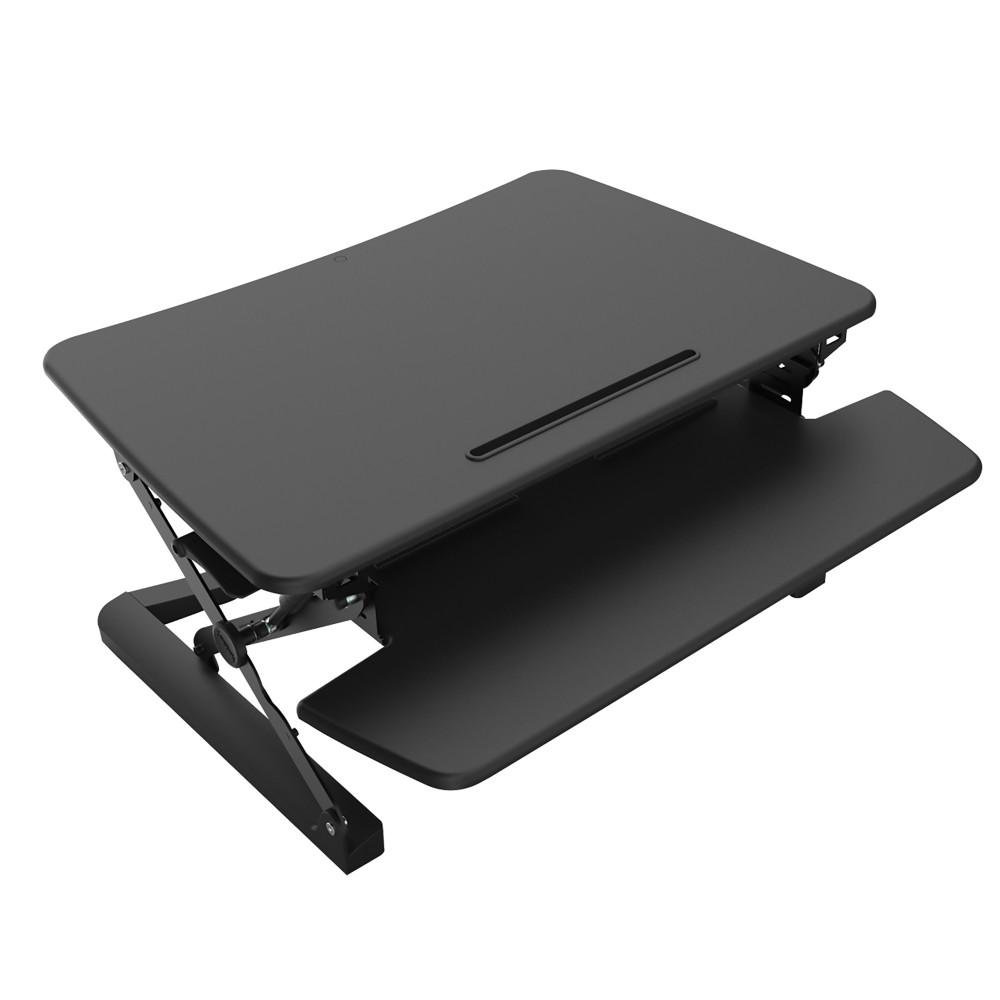 RAPID RISER WORKSTATION W890mm X D590mm Medium - Black