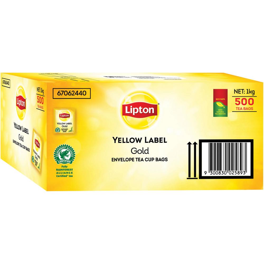LIPTON TEA BAGS Yellow Label PK500 Enveloped