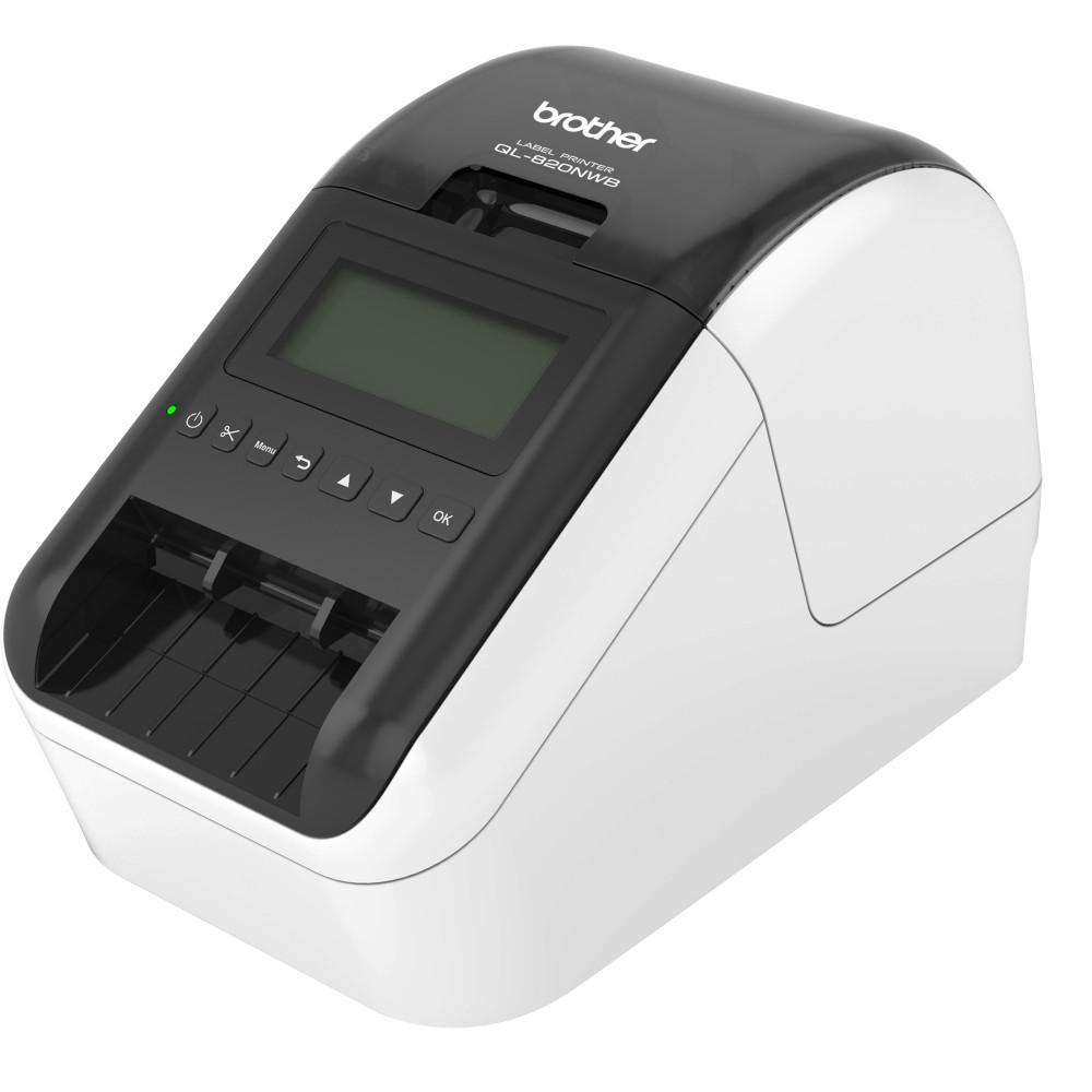 BROTHER QL820NWB LABEL PRINTER Print up to 110 labels/minute Professional Desktop labeller