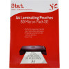STAT LAMINATING POUCH A4 80 Micron Clear Pack of 50