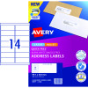 AVERY SURE FEED LABELS Laser 99.1 x 38.1mm White Pack of 140