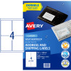 AVERY WEATHER PROOF LABELS Laser 199.6 x 289.1mm White Pack of 40