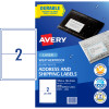AVERY WEATHER PROOF LABELS Laser 199.6 x 143.5mm White Pack of 20