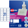 Avery Crystal Clear Laser Address Label 21UP 63.5x38.1mm Pack of 10