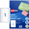 Avery Crystal Clear Laser Address Label 1UP 199.6x289.1m Pack of 10