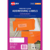 Avery Inkjet Frosted Clear Label 16UP 99.1x34mm Pack of 10