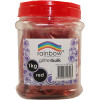 RAINBOW GLITTER BULK 1 KG JAR Red