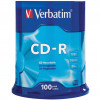 VERBATIM RECORDABLE CDS CD-R 52X 80Min/700MB Pk100
