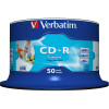 VERBATIM RECORDABLE CD'S CD-R 80min 52X IJ Prntbl Pk50