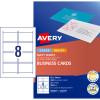 AVERY C32015-25 BUSINESS CARDS I/Jet Dbl Sided 8/Sht Matt Wht