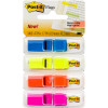 POST-IT 683-4ABX FLAG TRNSLCNT 12mm Blue Yellow Orange Pink 140 Pack