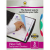 MARBIG VIEW TAB DIVIDERS A4 PP 5 Tab Colour