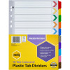 MARBIG COLOURED DIVIDERS A4 10 Reinf Tab PP