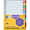 MARBIG COLOURED DIVIDERS A4 1-12 Reinf Tab PP