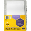 MARBIG BLACK & WHITE DIVIDERS A4 1-31 Reinf Tab Board