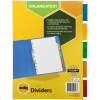 MARBIG INSERTABLE TAB DIVIDERS A4 Manilla 5 Tab White