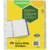 MARBIG INSERTABLE TAB DIVIDERS A4 Manilla 5 Tab xtra Wide Wht