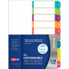 Avery L7411-10 Customisable Dividers A4 1-10 Index Tabs Bright Assorted