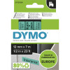 DYMO D1 LABEL CASSETTE 12mmx7m -Black on Green