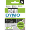 DYMO D1 LABEL CASSETTE 12mmx7m -Black on White
