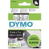 DYMO D1 LABEL CASSETTE 9mmx7m -Black on Clear