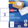 AVERY L7155 MAILING LSR LABELS 200.7x93.1mm 3/Sht Shipping