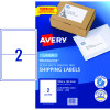 AVERY MAILING LASER LABELS L7168 2 L/P Sht 199.1x143.5mm Shipping  Bx50