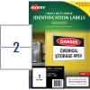 AVERY L7068 DURABLE LABEL Laser 2/Sht 199.6x143.5mm Wht