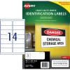 AVERY L7063 DURABLE H/D LABEL Laser 14/Sht 99.1x38.1mm Wht