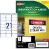 AVERY L7060 DURABLE H/D LABEL Laser 21/Sht 63.5x38.1mm Wht