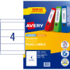 AVERY L7171 FILING LASER LABEL Lever Arch Spine 200x60mm Wht