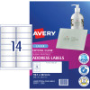 AVERY L7563 CLEAR LASER LABELS Quick Peel 14/Sht 99.1x38mm