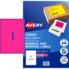 AVERY L7167FP LASER LABELS 1/Sht 199.6x289mm Fluoro Pink
