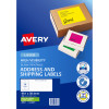 AVERY L7163FG LASER LABELS 14/Sht 99.1x38.1mm Fluoro Green 350 Pack