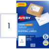 AVERY INTERNET SHIPPING LABELS L7167 1L/P/Sht 199.6x289.1mm Pack of 10 Laser Labels