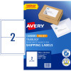AVERY INTERNET SHIPPING LABELS L7168 2L/P/Sht 199.6x143.5mm Pack of 20 Laser Labels