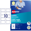 AVERY L7427 BADGE LABEL Fabric Name Badge 10up 88x52mm Pack of 15