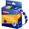 AVERY DMC14B DISPENSER LABEL Circle 14mm Blue