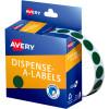 AVERY DMC14G DISPENSER LABEL Circle 14mm Green