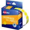 AVERY DMC14Y DISPENSER LABEL Circle 14mm Yellow