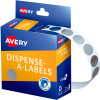 AVERY DMC14SI DISPENSER LABEL Circle 14mm Silver