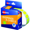 AVERY DMC14FY DISPENSER LABEL Circle 14mm Yellow